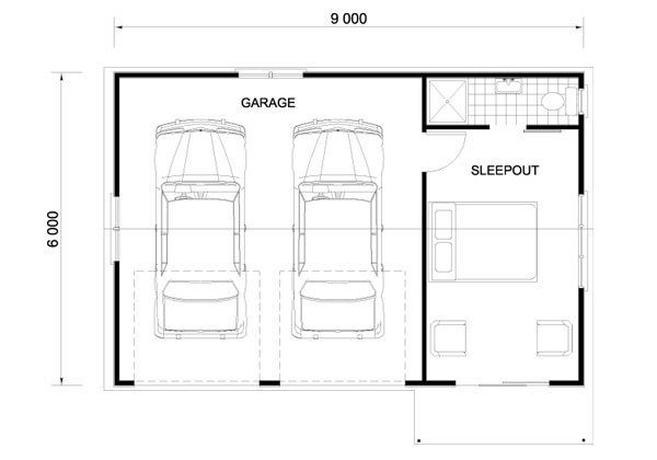 Amazing 2 car garage door dimensions 4 doublegarage Garage sizes 2 car